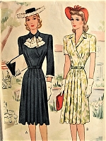 1940s EFFORTLESS Dress in Two Styles McCall 4768 Bust 34 Vintage Sewing Pattern