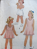 1940s Vintage SWEET Child's Slip and Panties McCall 5064 Sewing Pattern Chest 23