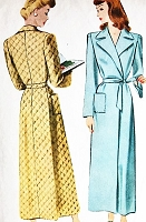 1940s SLEEK Housecoat Robe Bathrobe Pattern McCALL 5320 Classic 40s Robe very Barbara Stanwyck Bust 30 Vintage Sewing Pattern