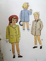 1940s CUTE Little Girls Coat Pattern McCALL 6158 Two Sweet Styles Size 4 Childrens Vintage Sewing Pattern