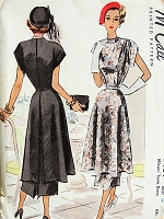 1940s LOVELY Tunic Dress McCall 7164 Vintage Sewing Pattern Bust 34
