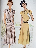 1940s Vintage LOVELY Dress in Three Styles McCall 7215 Bust 34 Sewing Pattern