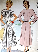 1940s PRETTY Dress Pattern McCALL 7260 Two Style Versions Day or After 5 Bust  34 Vintage Sewing Pattern