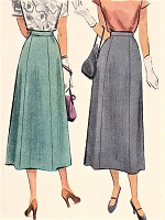 1940s STYLISH 6 Gore Skirt Pattern McCALL 7337 Waist Size 30 Vintage Sewing Pattern