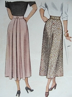 1940s Vintage LOVELY Skirt McCall 7522 Waist 26 Sewing Pattern