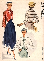 1940s GLAM Bolero Jackets Pattern McCALL 7570 Two Beautiful Style Versions Daytime or Evening  Bust 34 Vintage Sewing Pattern
