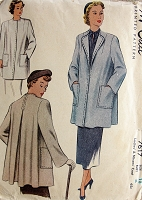 1940s FABULOUS Coat Jacket Pattern McCALL 7617 Beautiful Design Two Style Versions Bust 36 Vintage Sewing Pattern