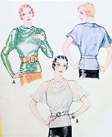 1930s ART DECO Blouse Pattern McCALL 7690 Two Beautiful Overblouse Styles Day or Evening Bust 32 Vintage Sewing Pattern