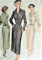 1940s STUNNING Dress Pattern McCALL 7865 Beautiful Slim Tailored Dress Perfect Day or After 5 Bust 30 Vintage Sewing Pattern