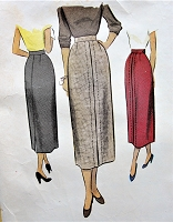 1940s CLASSY Slim Skirt Pattern McCALL 7930 Dart Fitted Slim Skirt Waist 28 Vintage Sewing Pattern