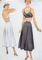 1950s Lovely LINGERIE Pattern McCALL 7960 Bralette  Bra and Petticoat Slip Bust 30 Vintage Sewing Pattern