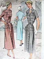 Vintage 1950s LOVELY Button Up Dress McCall 7974 Sewing Pattern Bust 42