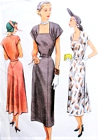 1950s CLASSY Day or Party Cocktail Dress Pattern McCALL 7997 Figure Flattering Design Bust 34 Vintage Sewing Pattern