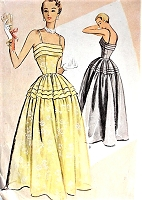 1950s LOVELY Evening Ball Gown Pattern McCALL 8120 Fitted Bodice,Tuck Details Glamorous Design Bust 32 Vintage Sewing Pattern FACTORY FOLDED