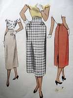 1950s Vintage STYLISH Slim Skirt with Pockets McCall 8159 Sewing Pattern Waist 24