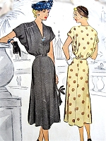 1950s BEAUTIFUL Day or Cocktail Party Dress Pattern McCALL 8416 Lovely Draped Sleeves Figure Flattering Style Bust 32 Vintage Sewing Pattern