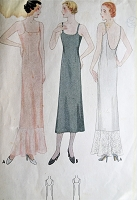 1930s GORGEOUS Art Deco Slip Pattern McCALL 7202 Perfect Evening Gown Low U Back Bust 32 Vintage Sewing Pattern