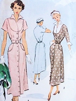 1940s CLASSY Dress Pattern McCALL 7694 Lovely Bib Bodice With Wing Collar and Cuffs Classy Design Bust 34 Vintage Sewing Pattern