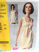 1960s MOD Designer Mini Dress Pattern McCALLS 1033  Jacques Tiffeau Day or Party Dress Bust 34 Vintage Sewing Pattern FACTORY FOLDED