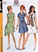 1970s RETRO Dress Pattern McCALLS 2272 Three style Versions Bust 36 Vintage Sewing Pattern UNCUT