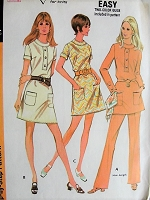 1970s FAB Dress, Tunic Mini Dress and Pants Pattern McCALLS 2278 Bust 34 Vintage Sewing Pattern FACTORY FOLDED