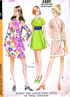 1970s McCALLS 2341 FAB Kimono Wrap Dress Pattern Easy To Make Day or Party Raglan Sleeve Dress Bust 31 Vintage Sewing Pattern UNCUT