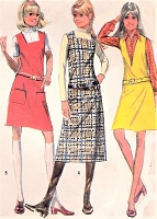 70s CUTE Jumper Pattern McCALLS 2452 Three Versions Includes Midi Length Size 13/14 Vintage Sewing Pattern FACTORY FOLDED