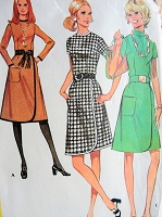 1970s Vintage STYLISH Dress with Wrap Skirt McCall's 2675 Sewing Pattern Bust 38