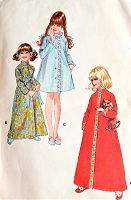 1960s SWEET Little Girls Robe Bathrobe Pattern McCALLS 2697 Three Pretty Versions Size 6 Vintage Childrens Sewing Pattern FACTORY FOLDED