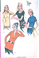 1970s FAB Blouse Top Pattern McCALLS 2878 Five Style Versions Easy To Sew Bust 34 Vintage Sewing Pattern UNCUT