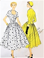 1950s BEAUTIFUL 2 Pc Dress Pattern McCALLS 3110 Flattering Horseshoe Neckline Fitted Suit Jacket, Full Skirt Bust 32 Vintage Sewing Pattern