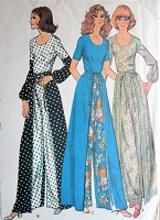 1970s Retro FUNKY Blouse, Pants and Wrap Around Pant-Skirt McCalls 3231 Vintage Sewing Pattern Bust 34