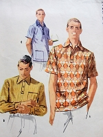 1950s SWANKY Mens Sport Shirt Pattern McCALLS 3312 Three Casual Style Versions Chest 38-40 Vintage Menswear Sewing Pattern