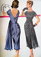 1950s STUNNING Evening Dress Pattern McCALLS 3855 Eye Catching Design Party Cocktail Dress Bust 34 vintage Sewing Pattern FACTORY FOLDED