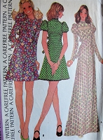 1970s Retro ROMANTIC High Waisted Boho Prairie Style Dress McCall's 3871 Vintage Sewing Pattern Bust 31