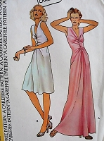 1970s Retro CHIC Sleeveless Dress McCall's 4046 Bust 30 1/2 Sewing Pattern Vintage Fashion