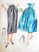 1950s BEAUTIFUL Day or Evening Skirt Pattern McCALLS 4135 Two Lovely Skirts Slim or Full, Figure Flattery Styles Waist 26 Vintage Sewing Pattern