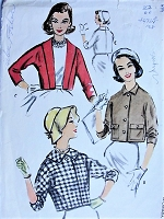 1950s CHIC Jacket Set McCalls 4459 Bust 32 Vintage Sewing Pattern