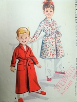 1950s Little Boys or Girls Bath Robe Pattern McCALLS 4613 Childrens Robe in 2 Lengths Size 3 Vintage Sewing Pattern