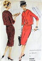 1950s STYLISH Pierre Cardin two-piece suit, Skirt, Jacket Vintage Sewing Pattern  McCall's 4694 Bust 34