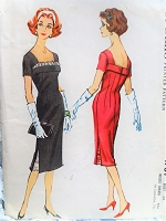 1950s FLIRTY Sheath Dress Pattern McCALLS 4701 Cocktail Party Dress Bust 38 Vintage Sewing Pattern FACTORY FOLDED