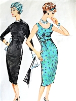 1950s CLASSY Chemise Empire Dress and Button Back Bolero Jacket Pattern McCALLS 4748 Flattering Design Day or Cocktail Party Evening Dress Bust 32 Vintage Sewing Pattern