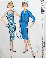 1950s CLASSY Sleeveless Sheath Dress with Jacket McCall's 4968 Bust 35 Vintage Sewing Pattern