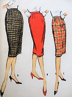 1950s Vintage CLASSIC Slim Three-Gore Skirt McCall's 5082 Sewing Pattern