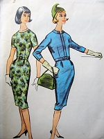 1950s Vintage CHIC Slim Dress with Jacket and Belt McCalls 5144 Sewing Pattern Bust 34