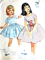 1950s PRETTY Little Girls Party Dress and Petticoat Pattern McCALLS 5230 Two Sweet Styles Size 6 Childrens Vintage Sewing Pattern
