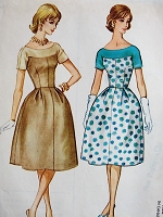 1960s LOVELY Bell Shaped Dress with Fitted Bodice McCalls 5309 Bust 34 Vintage Sewing Pattern