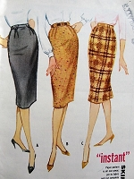 1960s Vintage CLASSIC Skirt in Three Styles McCall's 5534 Sewing Pattern Retro Fashion