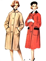 1960s CLASSIC Coat Pattern McCALLS 5612 Convertible Neckline Raglan Sleeve Bust 34 Vintage Sewing Pattern FACTORY FOLDED