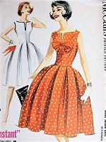 1960s BEAUTIFUL Dress Pattern McCALLS 5845 Lovely Dress Day or Party Bust 32 Vintage Sewing Pattern FACTORY FOLDED
